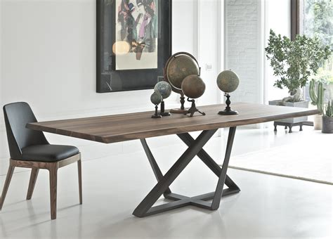Modern Dining Table Bench Bontempi Millennium Wood Dining Table Modern Dining Tables