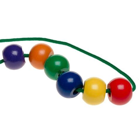 bead toys primary lacing wooden lacing educational toys