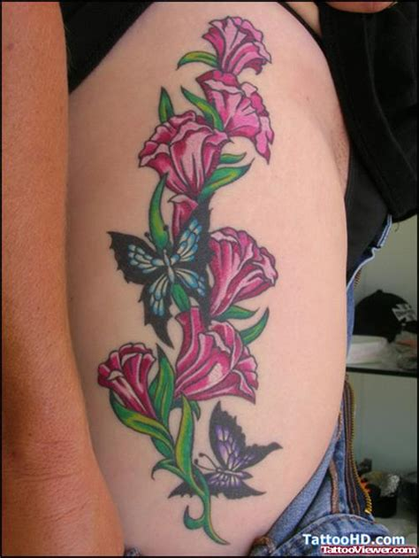 butterfly tattoo with vines and flowers vine flowers and butterflies tattoos tattoo viewer com