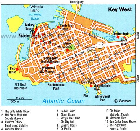 printable map key west key west usa cruise port of call
