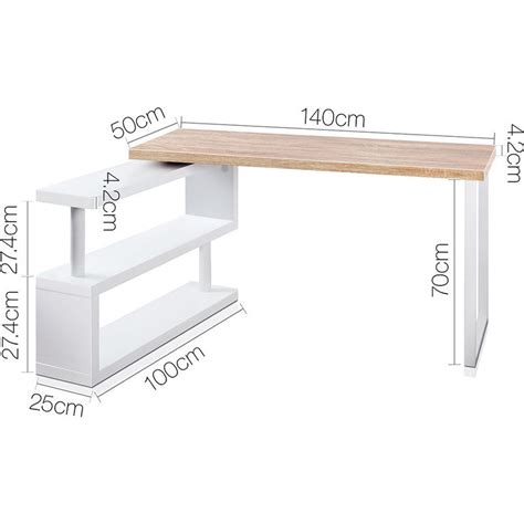 Corner Desk White Wood Wood Corner Rotating Office Desk Bookshelf White Buy Desks