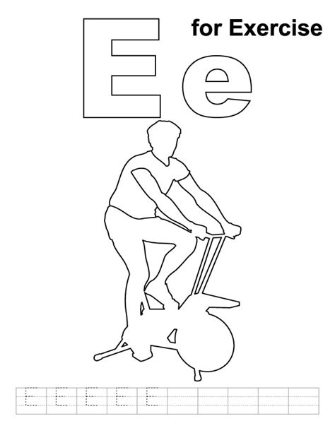 printable coloring pages exercise people exercising free coloring pages