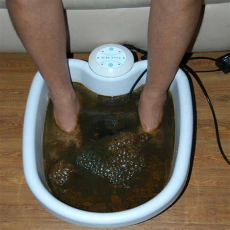 Detox Spa System Foot Bath by Ionic Foot Bath Detox Color Chart Explained For Your