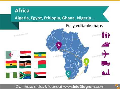 Editable Maps South Africa Countries African Continent Population Ppt Templates Free