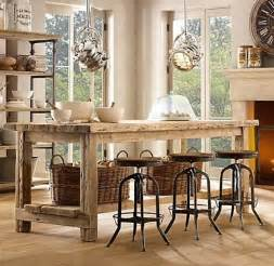 farm table kitchen island 32 simple rustic kitchen islands amazing diy