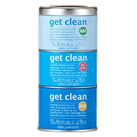 The Republic Of Teas Get Clean Detox Tea by Feel Teas The Daily Tea