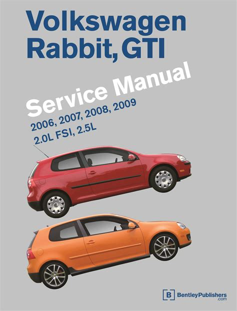 download car manuals 2007 volkswagen rabbit spare parts catalogs front cover volkswagen rabbit gti a5 repair manual 2006 2009 bentley publishers repair