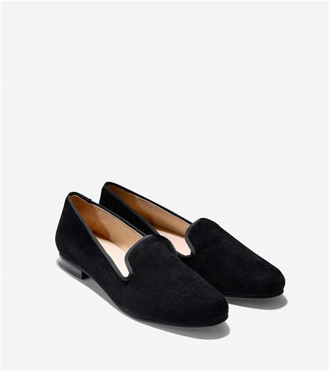 cole haan black loafers cole haan sabrina suede loafers in black lyst