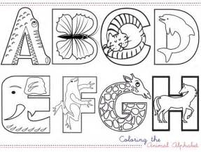 Galerry animal alphabet coloring