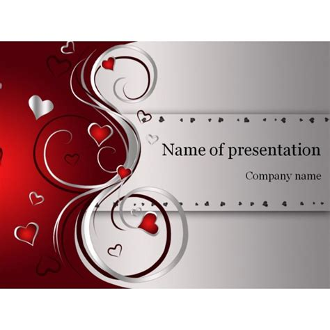 valentines card powerpoint template powerpoint backgrounds template