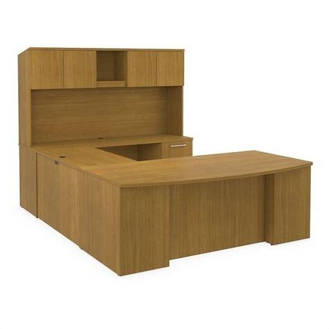 Bush U Shaped Desk Bush Bbf 300 Series 72 Quot U Shaped Desk With Hutch In Modern Cherry 300s041mc