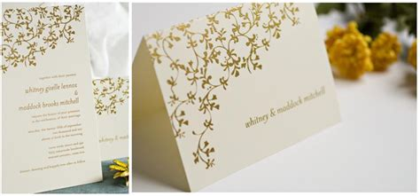 Wedding Invitations Thermography by Gorgeous Thermography Wedding Invitations Vibrant Gold On