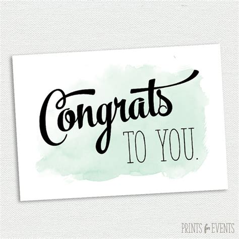 printable card congratulations printable congratulations card graduation card mint