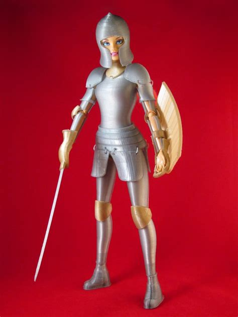 How To Make A 3d Doll Out Of Paper - faire play compatible 3d printed armor by