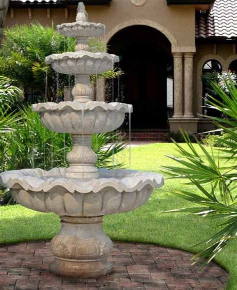 Water Fountains Front Yard And Backyard Designs H2o Fountains For Backyards