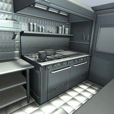 food truck kitchen design foodtruck kitchen sink 3d model