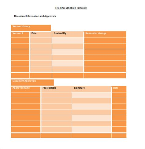 Training Schedule Template 7 Free Sle Exle Format Download Free Premium Templates Class Schedule Template Docs