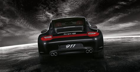 porsche carrera back 2011 black porsche 911 targa 4s wallpapers