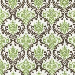 Curtain Fabric With Bird Print Sage Damask Fabric By The Yard Green Fabric Carousel