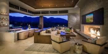 Custom home palm desert indoor outdoor living contemporary living