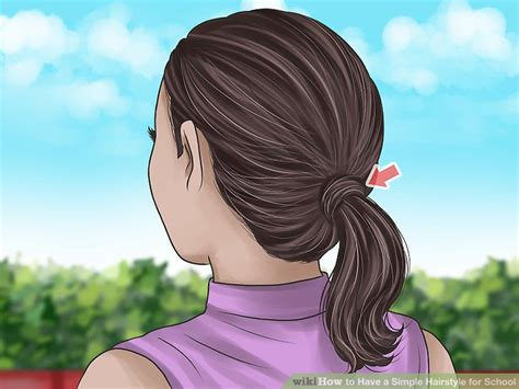 Hairstyles For For School by 3 Ways To A Simple Hairstyle For School Wikihow