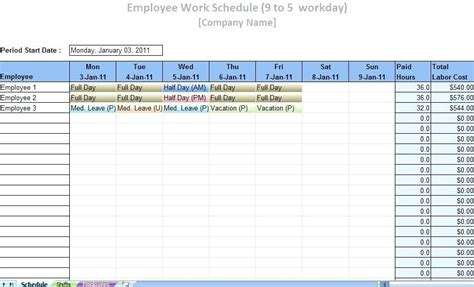 Free Monthly Employee Schedule Template Download Cortezcolorado Net Free Staff Schedule Template