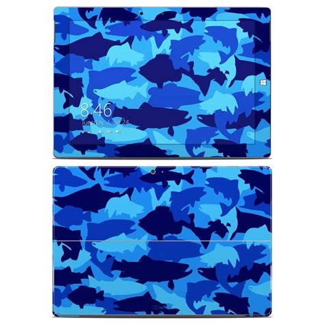 dan morris off the hook fish camo fabric in blue by the microsoft surface 3 skin camo fish by dan morris decalgirl