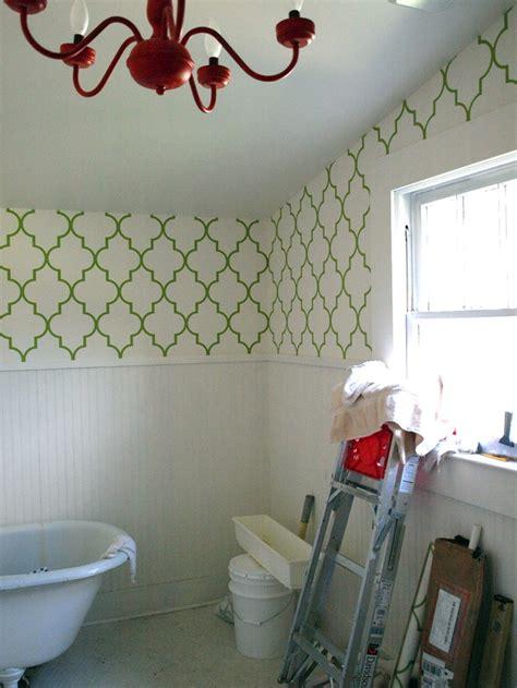 bathroom border wallpaper wallpaper in bathrooms babymac