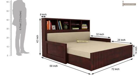 sofa cum bed dimensions savannah sofa cum bed with storage king size mahogany