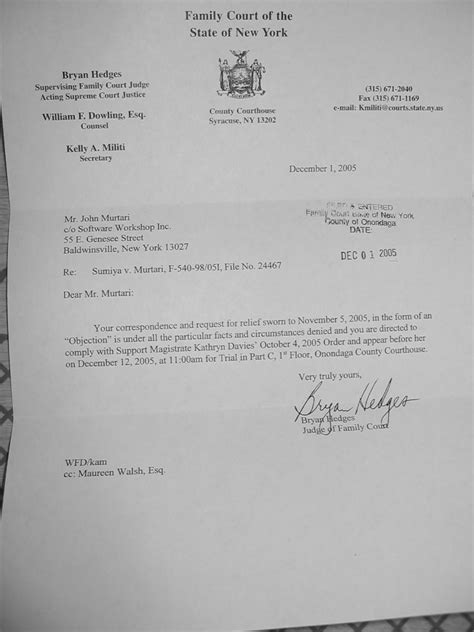 Child Support Objection Letter Sle Child Support Disaster