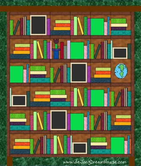 library book quilt for the home pinterest de jong dream house quilt 81 mrs gentry s library