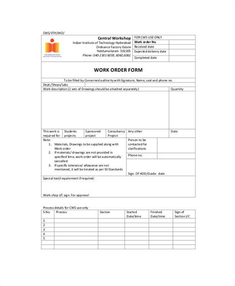 sample  printable order form  examples  word