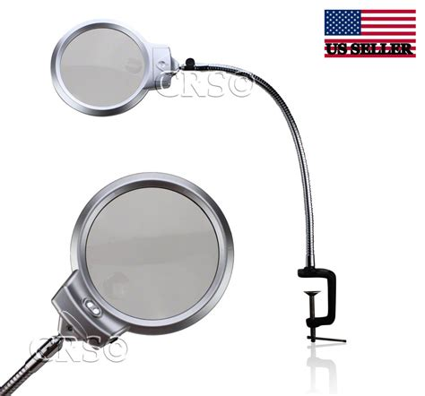 Desk L Magnifying Glass Large Home Office Furniture