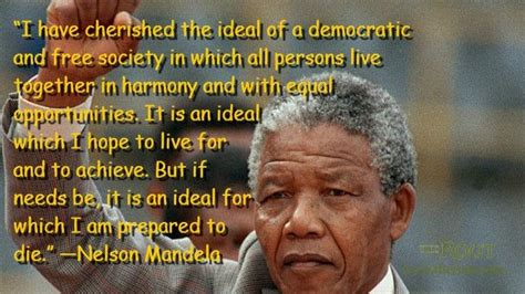 nelson mandela freed national geographic society quot i have cherished the ideal of a democratic and free society in which all persons live together