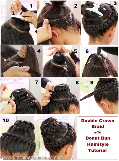 Howtododoughnut Plait In Hair | double crown braid with donut bun tutorial