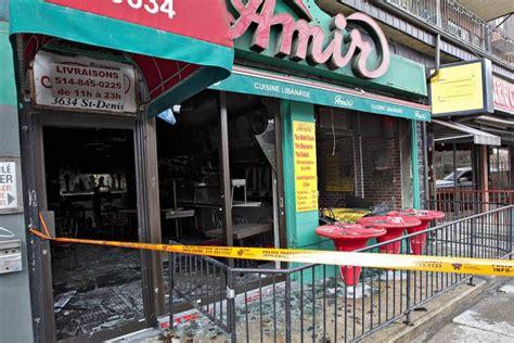 cuisine libanaise montreal un restaurant de montr 233 al ravag 233 par un incendie criminel