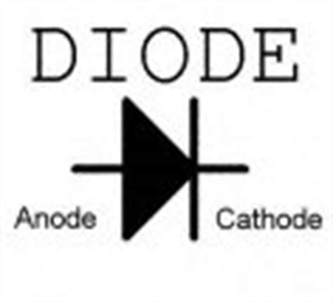 diode symbol with arrows led idiot lights
