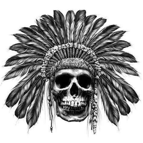 indian chief skull tattoo the world s catalog of ideas