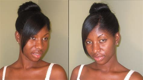 cornrows braided bun with a bang box braid hairstyle for women hairstyle for women