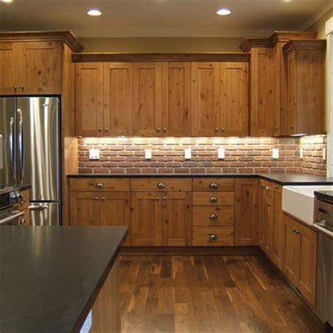knotty hickory kitchen cabinets backsplash kitchen photos chestnut cabinets design