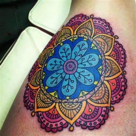mandala tattoo with colour mandalas lotus and tat on pinterest
