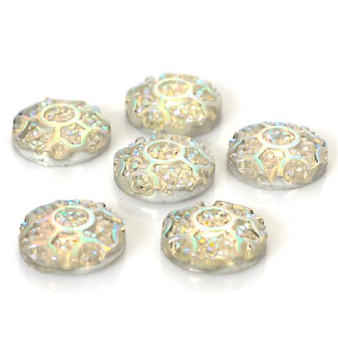 Handmade Jewelry Supplies - resin cabochon 10mm unique designed cabochon setting