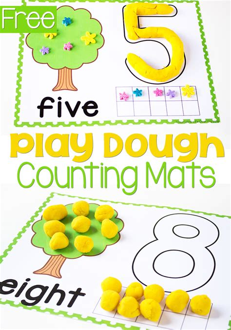 printable playdough mats free printable play dough counting mats money saving mom 174