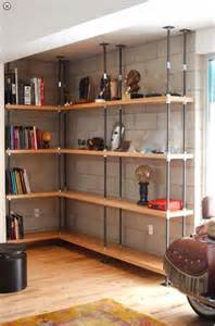 Bookshelves Los Angeles Industrial Built In Metal And Reclaimed Wood Bookcases