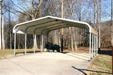 Metal Carport Structures Standard Two Car Carport Carport