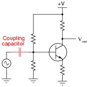 coupling capacitor function bipolar transistor biasing circuits discrete semiconductor devices and circuits worksheets