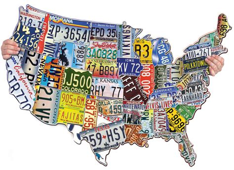 usa map puzzle 1000 pieces license plates usa jigsaw puzzle puzzlewarehouse