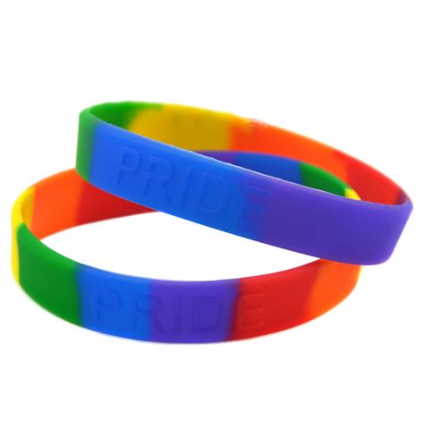 get cheap rainbow silicone wristbands aliexpress