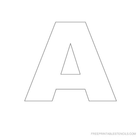 printable a z stencils printable big letter stencil a and all stencils crafts