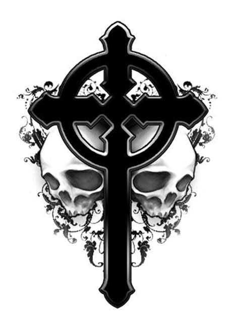 gothic skull tattoo designs the black tattoos cross tattoos